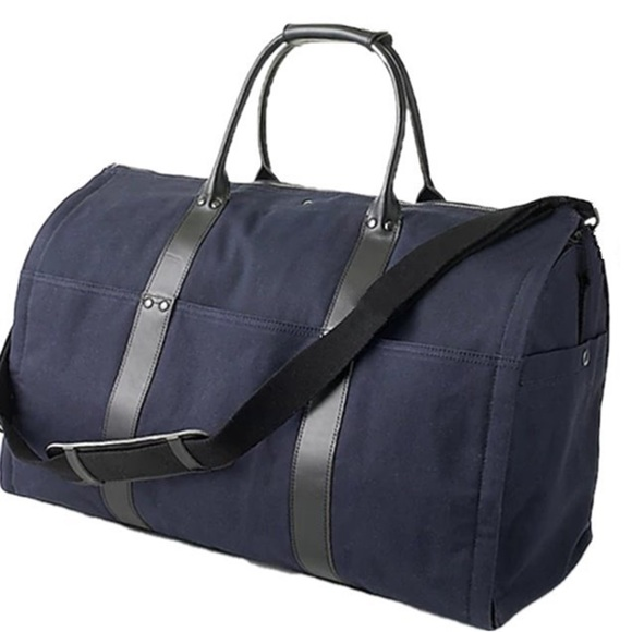 f29693ca910c J. Crew Bags | J Crew Ludlow Garment Duffle Bag Navy Black H3260 ...
